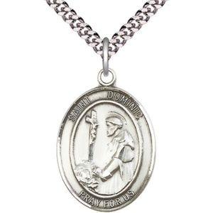 Sterling Silver St Dominic de Guzman Pendant